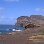 Volcanic coast typical of the Azores